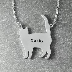 If you love kittens and cats you'll love to have this necklace! They inspire patience and peace. Perfect gift for a vet, graduation gift, lawyer, doctors, nurse Cat Necklace, Engraved Necklace, Crazy Cat Lady, Crazy Cats, State Jewelry, Custom Dog Tags, Cat Names, Just Giving, Graduation Gifts
