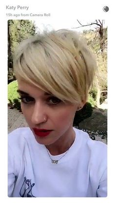Katy Perry Now Has an Insanely Cool Undercut Pixie Haircut | Glamour