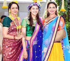 Wedding bells have found their way back into Deol household that has been beautifully decorated for the younger Ahana Deol's wedding preparations.The wedding functions Indian Actress Photos, Beautiful Indian Actress, Indian Actresses, Bollywood Actors, Bollywood News, Bollywood Celebrities, Celebrity Couples, Celebrity Weddings, Celebrity Style