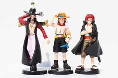 7pcs/set 12cm Anime One Piece Luffy Zoro Mihawk Ace Sanji Shanks Chopper Toppers Collection PVC Action Figure Toys Dolls by MsDIYSupplies on Etsy