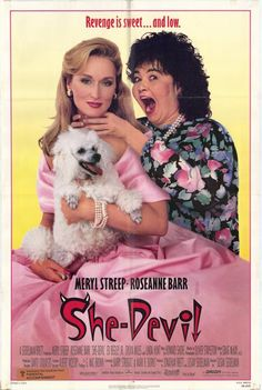 She-Devil , starring Meryl Streep, Roseanne Barr, Ed Begley Jr., Linda Hunt. A cunning and resourceful housewife vows revenge on her husband when he begins an affair with a wealthy romance novelist. #Comedy