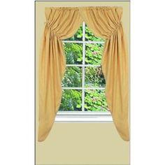 Prairie Curtains - Homespun - Primitive Country Rustic Window Treatment