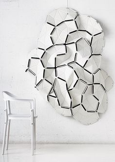 """Clouds by Erwan & Ronan Bouroullec Über cool wall deco that improves acoustic and allow you to create your own """"impression"""" Art Deco Paris, Acoustic Diffuser, Furniture Decor, Furniture Design, Divider Design, Ligne Roset, Creative Artwork, Acoustic Panels, Modular Design"""