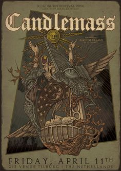 Roadburn Festival Costin Chioreanu's Official Poster Art – Candlemass Tour Posters, Band Posters, Music Posters, Retro Posters, Concert Posters, Gig Poster, Psychedelic Rock, Graphic Design Print, Metal Artwork