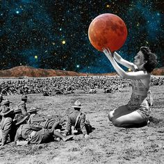 She'll Show You the World. Collage by Mikhail Siskoff