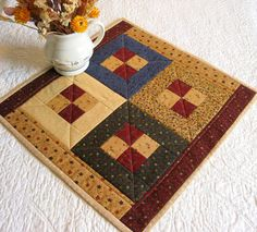 QUILTED TABLE TOPPER/Table by MondayMondayDesign on Etsy