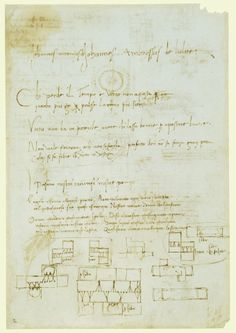 Leonardo da Vinci (Vinci 1452-Amboise 1519) - Recto: Designs for casting apparatus for the Sforza monument. Verso: Designs for casting apparatus for the Sforza monument and lines of poetry.Bequeathed to Francesco Melzi; from whose heirs purchased by Pompeo Leoni, c.1582-90; Thomas Howard, 2nd Earl of Arundel, by 1630; Probably acquired by Charles II; Royal Collection by 1690