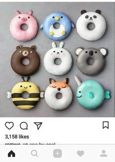 Donuts are fried sweets made with flour, white sugar, butter and eggs. Donuts are one of the favorite foods of American nationals. Donuts are more welcomin Delicious Donuts, Delicious Desserts, Yummy Food, Comida Disney, Disney Food, Disney Pixar, Cute Donuts, Mini Donuts, Doughnuts