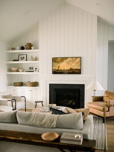 May 2020 - Kidd Living Room Reveal (plus, sources!) — Light & Dwell Living Room Photos, Home Living Room, Living Room Decor, Living Spaces, Living Room Layouts, Bedroom Decor, Home Design, Design Patio, Tall Ceilings