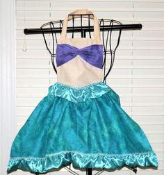 Kids apron, Princess Apron, Ariel inspired Apron on Etsy, $30.00