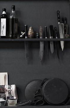 Some day when we own a home.  White and charcoal kitchen.