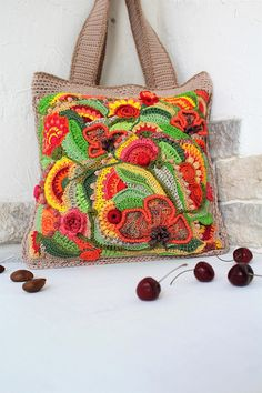 Summer Summer. Crochet bag of cotton. Beach bag Summer Bag
