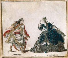 Oreste et Hermione Hermione, Jean Racine, Classic, Painting, Illustrations, Art, Crow, Persona, Derby