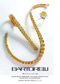 parure di diamanti fancy yellow by Bartorelli Maison
