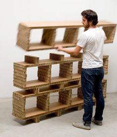 modular cardboard shelves