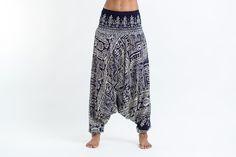 Tribal Prints Jumpsuit Harem Pants in Black