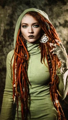 Girl Tattoos, Tattoos For Women, Tattoo Girls, Beautiful Dreadlocks, Dreads Girl, Gothic, Fantasy Photography, Female Character Design, Woodland Creatures