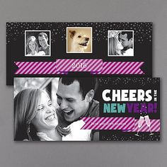 New Year Cheer - Photo Holiday Card - Ebony   |  40% OFF  |  http://mediaplus.carlsoncraft.com/Holiday/Photo-Cards/YU-YU19573EB-New-Year-Cheer--Photo-Holiday-Card--Ebony.pro