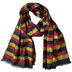 House of Wandering Silk - Afghan silk scarf in bold stripes (Af20)