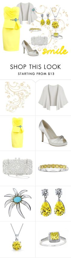 """""""Yellow Fashion Contest"""" by janet-palaggi ❤ liked on Polyvore featuring Notte by Marchesa, Natasha Couture, Tiffany & Co., Bling Jewelry, contest, yellow and Color"""