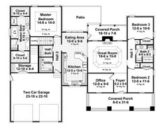 First Floor Plan of Cottage   Country   Craftsman   Southern   House Plan 55601 Like this one even better