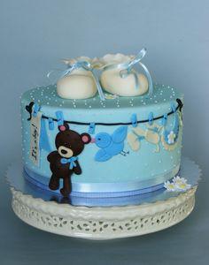 Baby boy cake...How cute!
