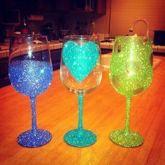 decorative wine glasses httpswwwetsycomlisting156120871 - Glass Decorations