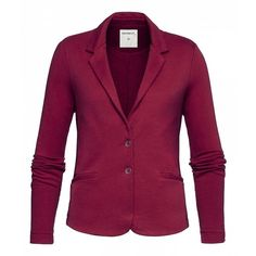 Sandwich Cotton jacket (4.255 RUB) ❤ liked on Polyvore featuring outerwear, jackets, clearance, red, red cotton jacket, cotton jacket, purple jacket, pocket jacket and faux jacket
