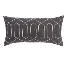This would look good with the coyuchi bedding, nice to add a little pattern.  DOTTED TRELLIS CHARCOAL PILLOW