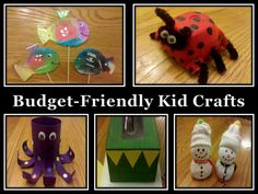 Looking for easy to make kid craft ideas that won't break the bank? Here are five budget-friendly craft ideas that use recycled products from around the house that both your kids and wallet will love!