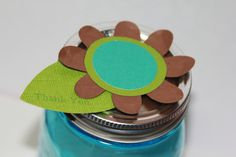 Paper Flower Mason Jar Toppers on Etsy, $10.00