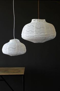 White Lace Lampshade - 2 Sizes Available - Lighting