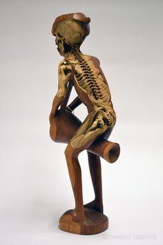 人間の骸骨彫刻 Maskull Lasserre 5
