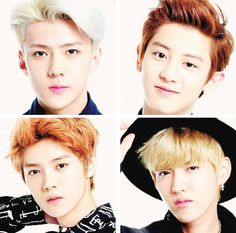 Sehun, Chanyeol, Luhan & Kris