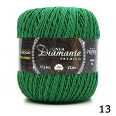 Barbante Diamante Premium nº06 400g na cor Verde Bandeira N°13.