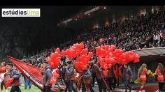 Largada balões coração no Estádio Municipal Braga no Jogo Sp. Braga-Benfica