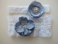 FREE SHIP wedding garters bridal garters lace garters by geranum, $20.90