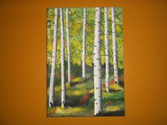 I love Quaken Aspen trees, this is an original painting by my uncle, Blaine Thompson