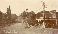 Katoomba St,Katoomba,in the Blue Mountains region of New South Wales in 1901. •State Library of NSW•