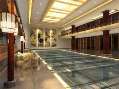 2015 Graduate Design_Yun Lin Shan Ju Resort Hotel Interior Design_Lobby_Back