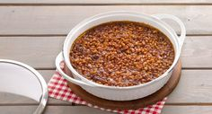 Maple-Rum Baked Beans recipe - Classically seasoned for that irresistible blend of smooth, sweet and tangy, our recipe elevates the must-have barbecue side by mixing in the robust, rich flavor of dark rum.