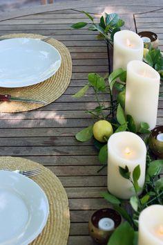 Pretty, rustic summer tablescape via vmac & cheese