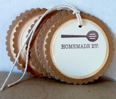 Mason Jar TagsHand Stamped Tags Homemade by Jar by Justabitofpaper