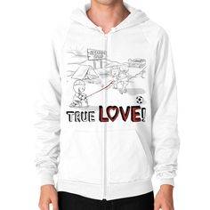This True Love American Apparel California Fleece Zip Hoodie is just like our regular hoodie, with the added convenience of zipping on and off as your life calls for it! A 100% cotton design ensures c