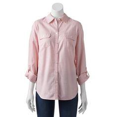 Croft & Barrow® Striped Oxford Shirt - Women's