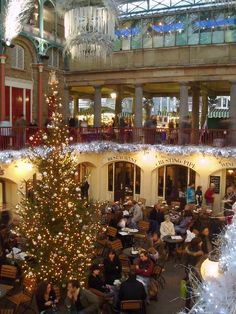 You haven't seen Christmas until you've seen a London Christmas. Covent Garden decked out.