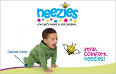 Neezies Infant and Toddler Clothing Proudly made in Nova Scotia! Neezies crawling pants feature built-in knee pads. These pants help protect delicate knees during learning to crawl, walk, run, and play. The mix and match tops and hoodies pair perfectly with the pants to create stylish outfits. Available at select locations. Check out www.neezies.com. Bees Knees, Nova Scotia, Mix N Match, Comfortable Fashion, Toddler Outfits, Stylish Outfits, Infant, Delicate, Running