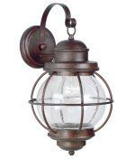 Kenroy Home 90964GC Hatteras 1 Light Outdoor Wall Light in Gilded Copper with Clear Seeded glass by Kenroy Home. $250.20. Nautical Outdoor Wall Light in Gilded Copper with Clear Seeded glass from the Hatteras Collection by Kenroy Home. Dimensions: 27.00 H 15.00 W 16.80 L - 90964GC