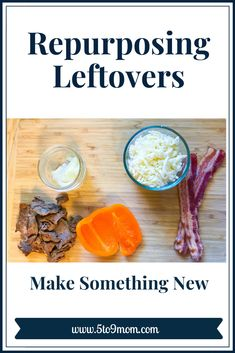 Repurposing leftovers is a great way to use food that might only make it from the fridge to the trash can. It can save on extra cooking too! Snack Recipes, Dinner Recipes, Healthy Recipes, Snacks, Meals For The Week, Simple Living, Repurposing, Vegan Desserts, Frugal Living