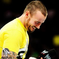 cm punk he has such a great smile